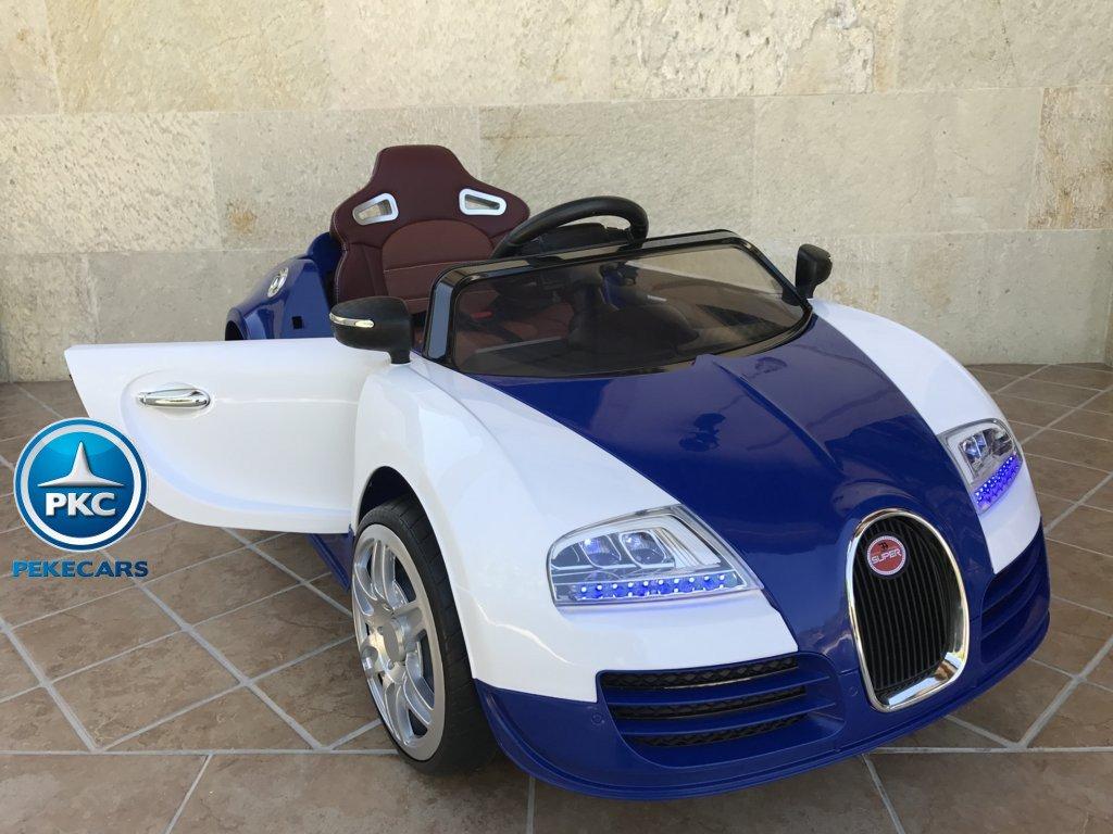 Coche electrico para niños Bugatti Veyron Style Azul con apertura de puertas