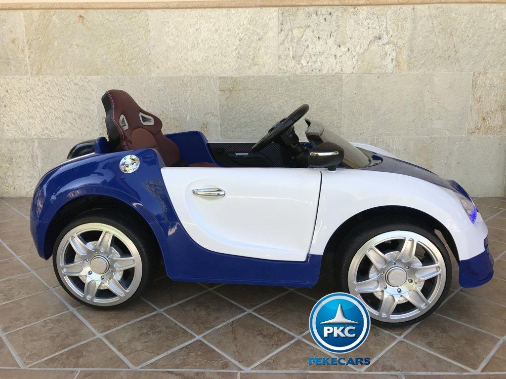 Coche electrico Infantil Bugatti Veyron Style Azul con asiento ajustable