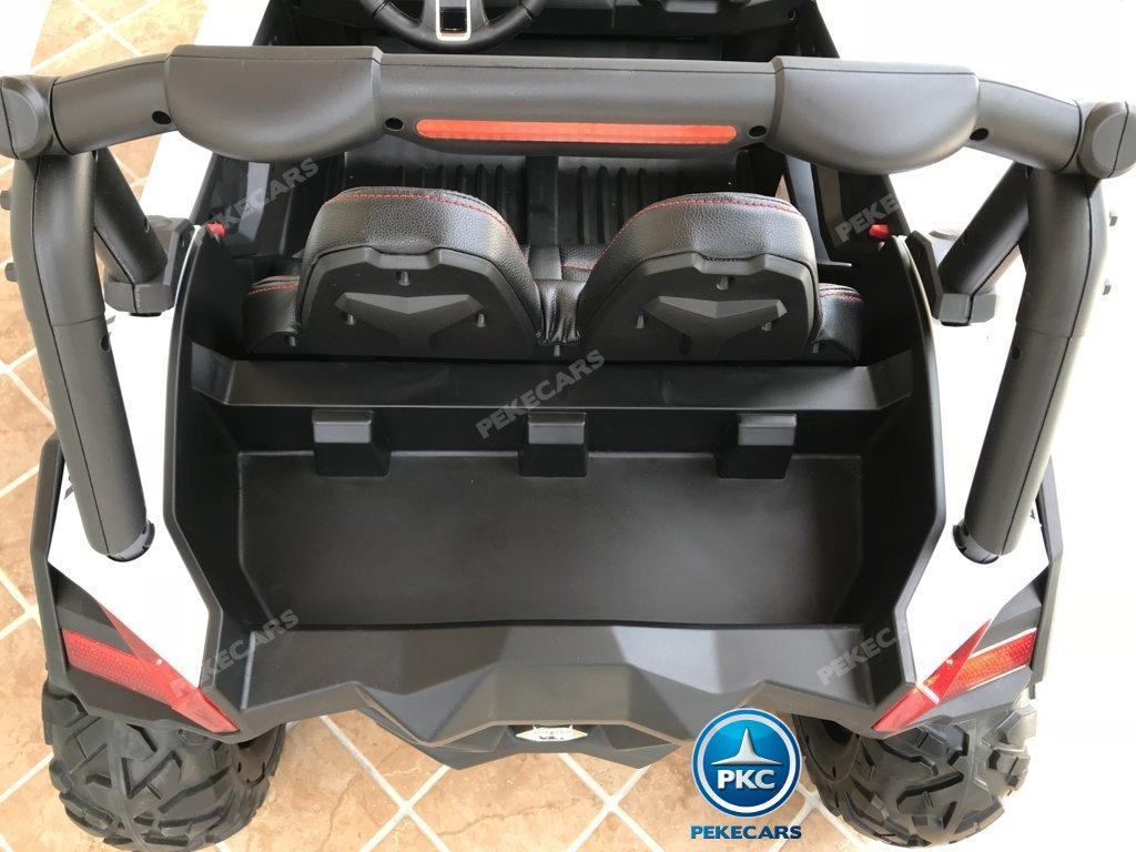 Coche electrico para niños Buggy UTV Blanco con maletero trasero
