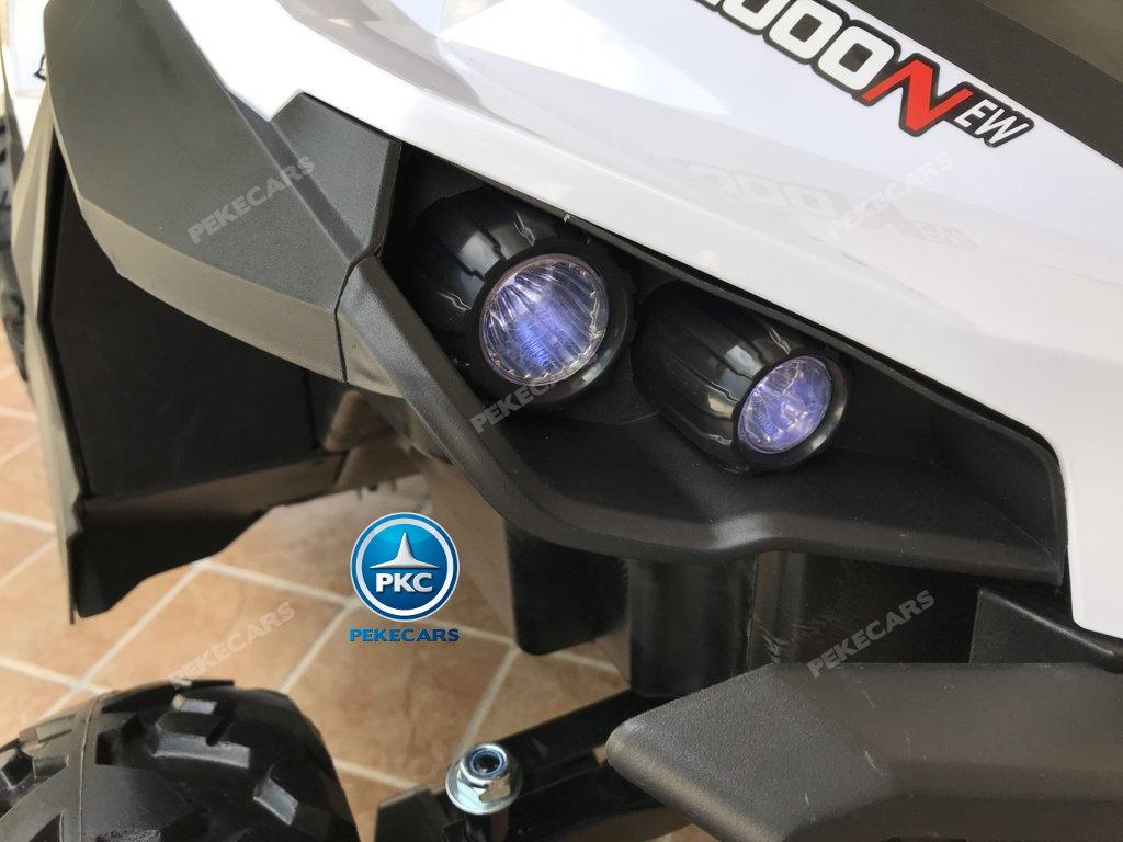 Coche electrico infantil Buggy UTV Blanco luces LED delanteras