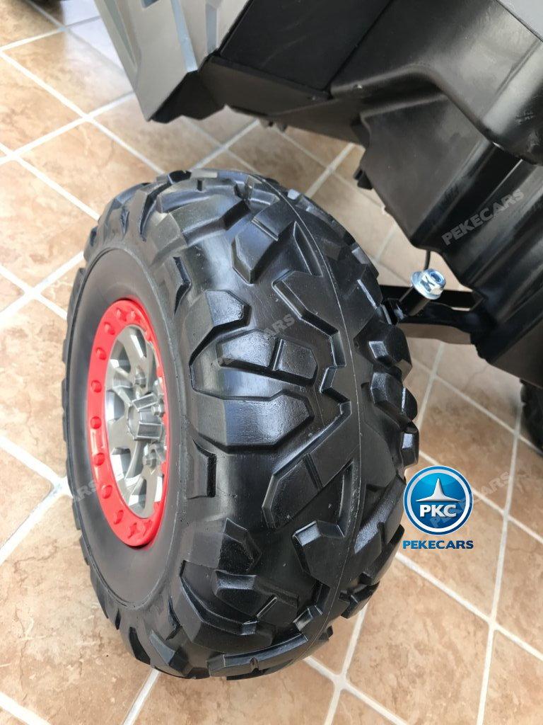 Coche electrico para niños Buggy UTV Blanco con ruedas de caucho antipinchazos