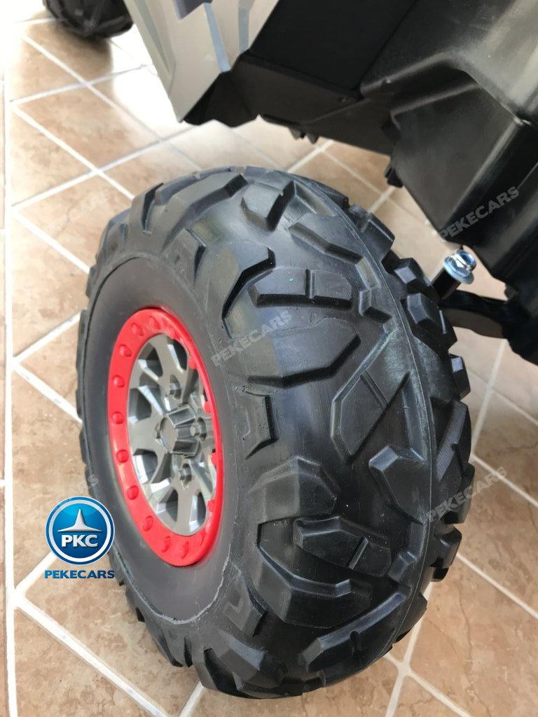 Coche electrico para niños Buggy UTV Rosa con ruedas de caucho antipinchazos