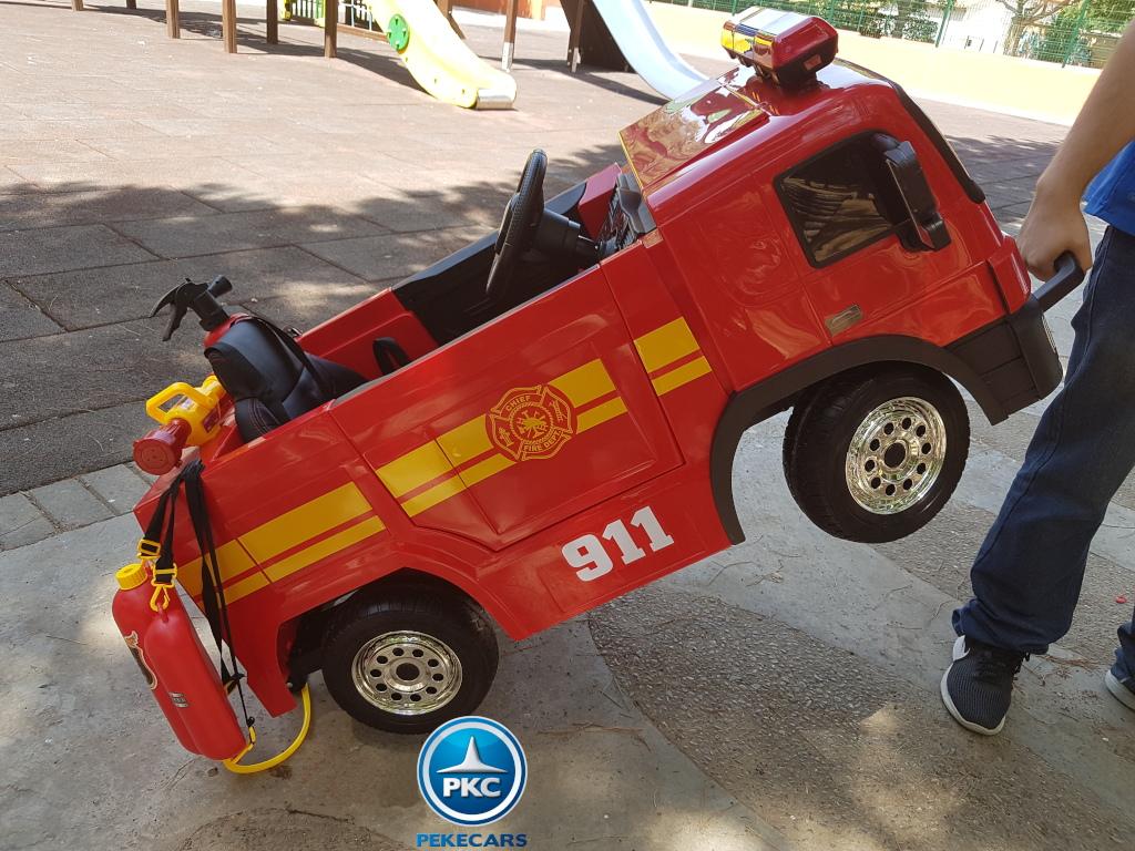 Camion de bomberos infantil de 1 plaza Rojo