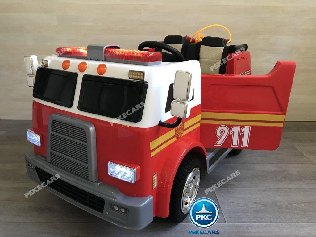 Coche electrico para niños camion de bomberos 12V vista principal