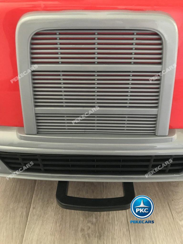 Coche electrico infantil camion de bomberos 12V asa de transporte