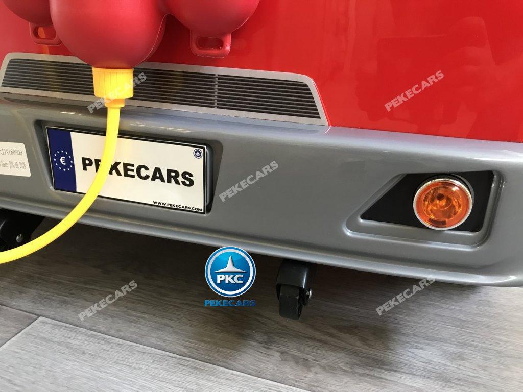 Coche electrico para niños camion de bomberos 12V ruedines traseros