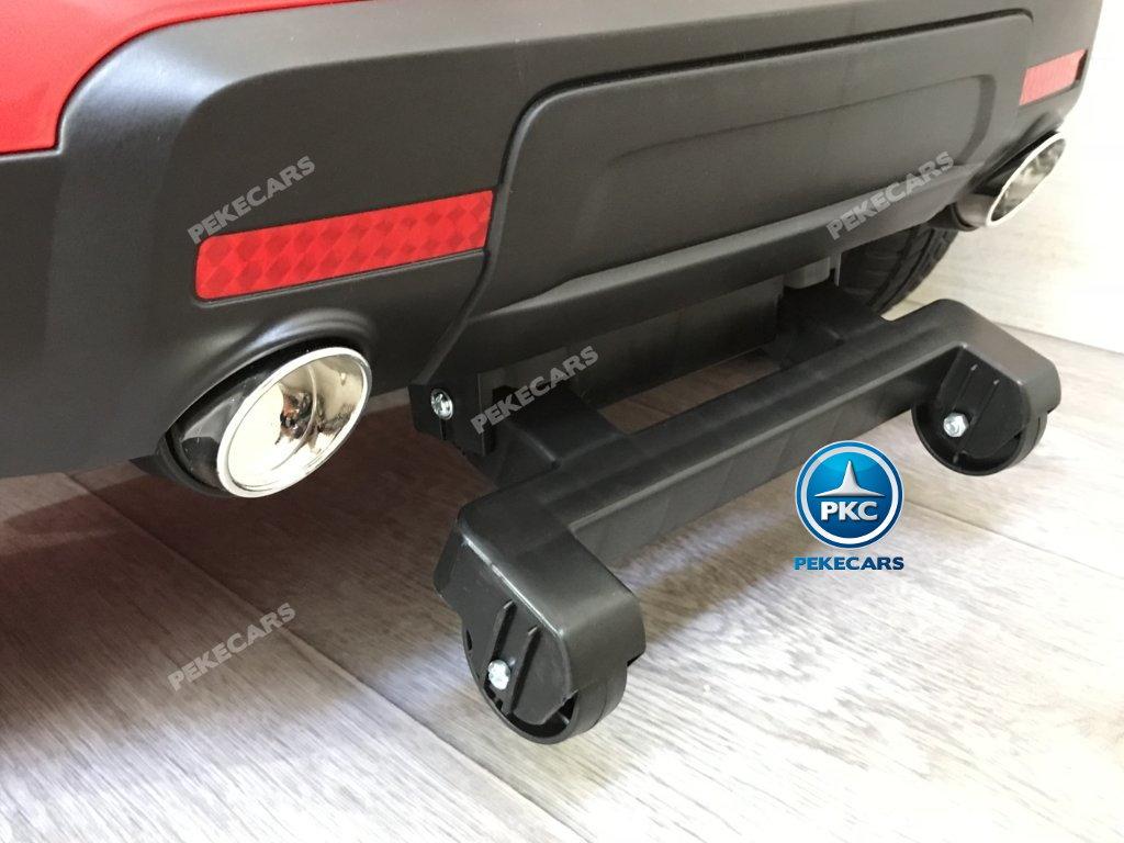 Coche electrico para niños jefe de bomberos 12V rojo con ruedines traseros