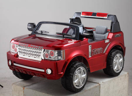 Pekecars land rover max style 24V para niños con mp3 color granate metalizado