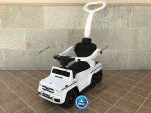 Correpasillos electrico para niños mercedes gl63 blanco