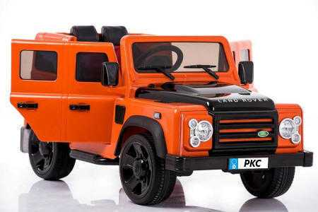 Todoterreno electrico para niños Land Rover Defender Naranja vista principal