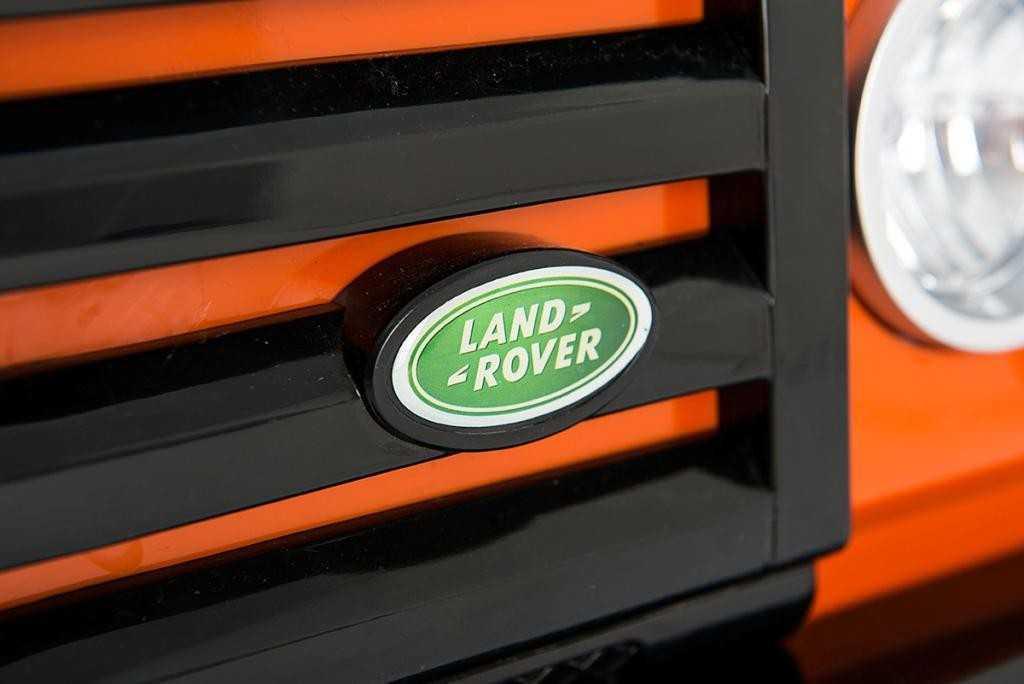 Comprar Todoterreno electrico para niños Land Rover Defender Naranja con licencia oficial