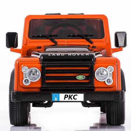 Todoterreno electrico infantil Land Rover Defender Naranja vista frontal