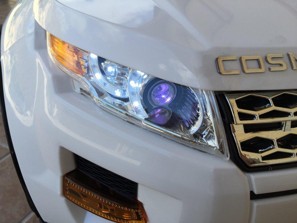 Coche electrico para niños evoque style blanco con luces led