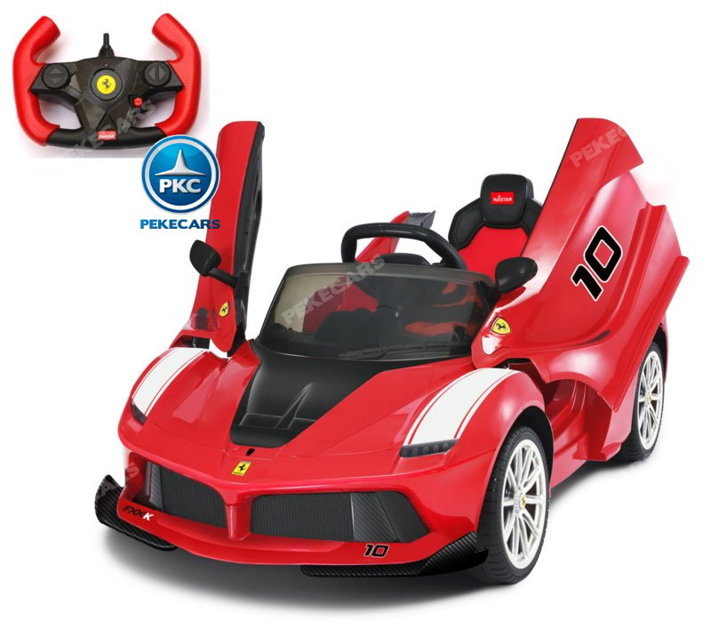 Coche electrico para niños Ferrari FXX-K Rojo Pintado vista principal
