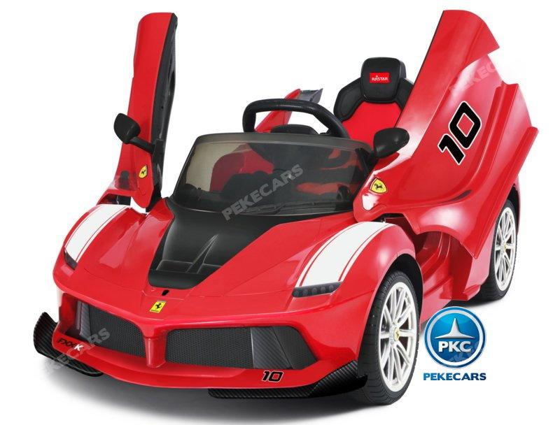 Coche electrico infantil Ferrari FXX-K Rojo Pintado apertura de puertas