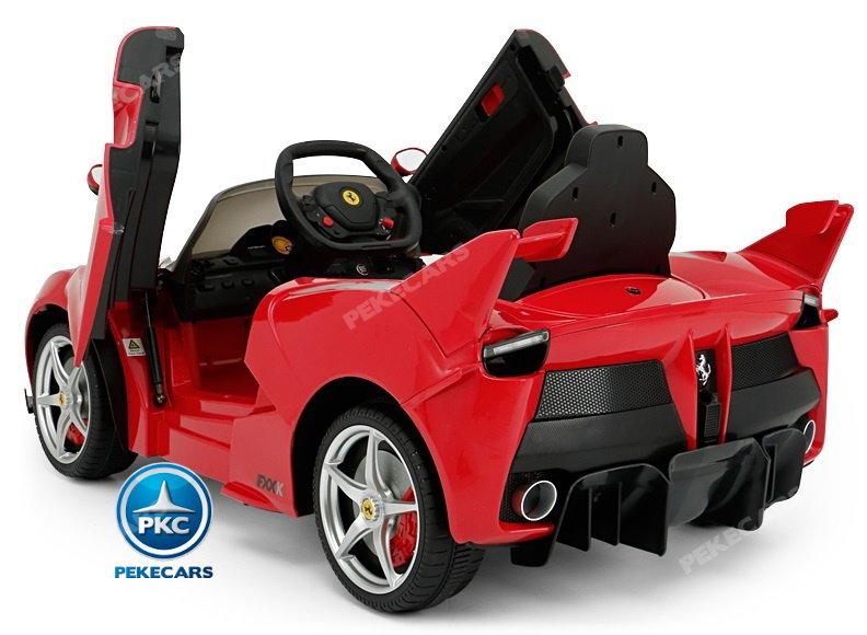 Coche electrico para niños Ferrari FXX-K Rojo Pintado con luces delanteras y traseras