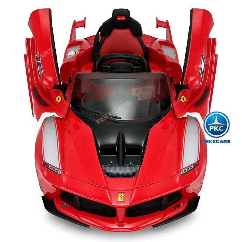 Coche electrico infantil Ferrari FXX-K Rojo Pintado