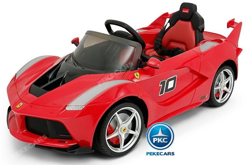 Coche electrico para niños Ferrari FXX-K Rojo Pintado