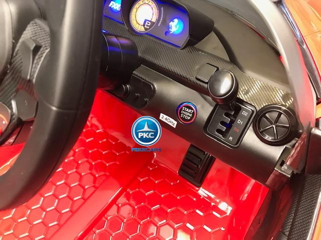 Coche electrico para niños Ferrari FXX-K Rojo Pintado palanca de cambio de marchas