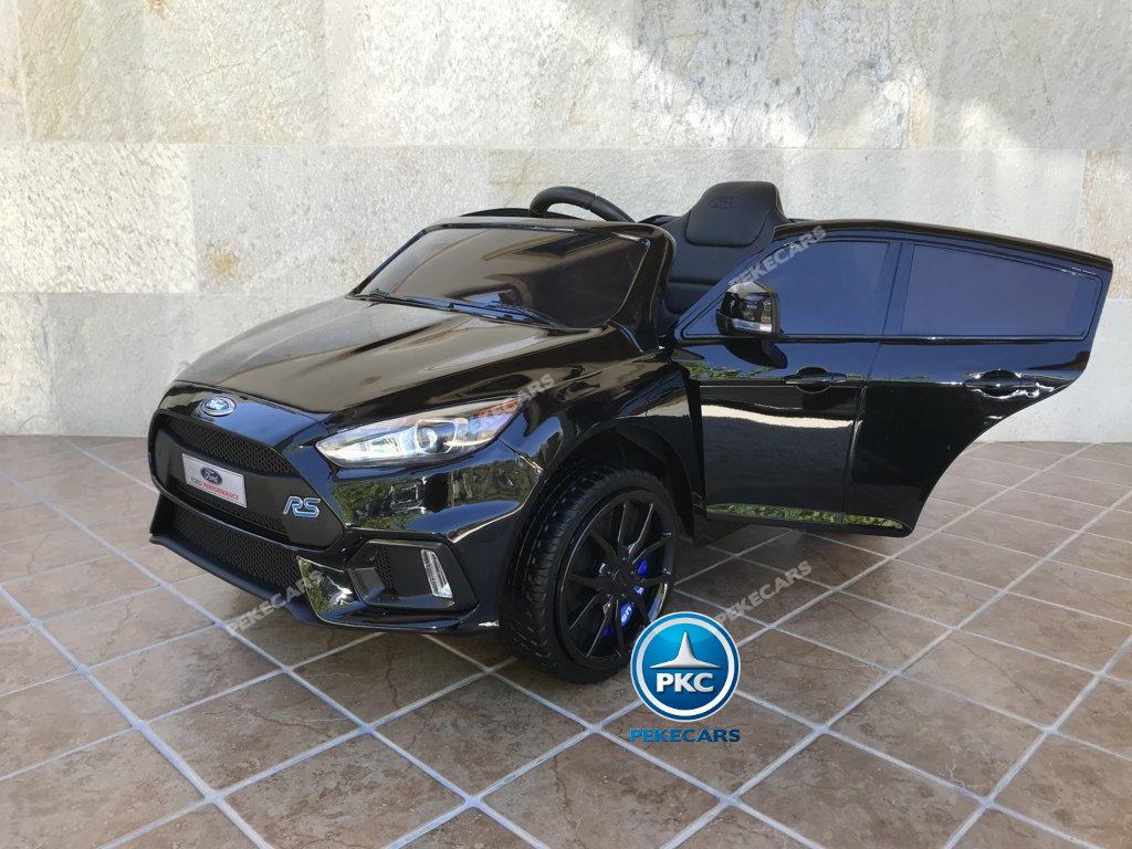 Coche electrico para niños Ford Focus RS Negro vista principal