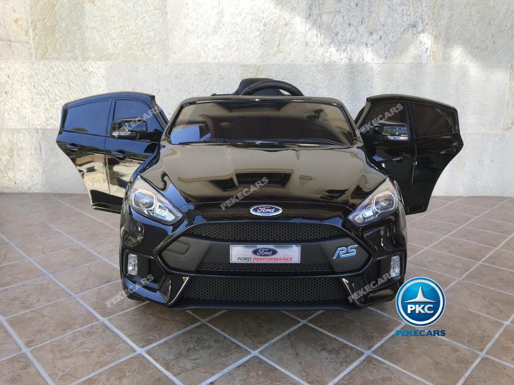 Coche electrico infantil Ford Focus RS Negro de frente
