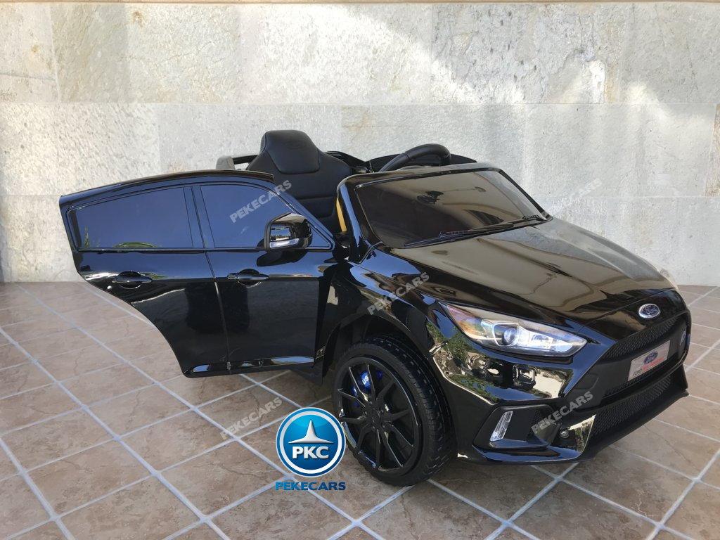 Coche electrico para niños Ford Focus RS Negro con apertura de puertas