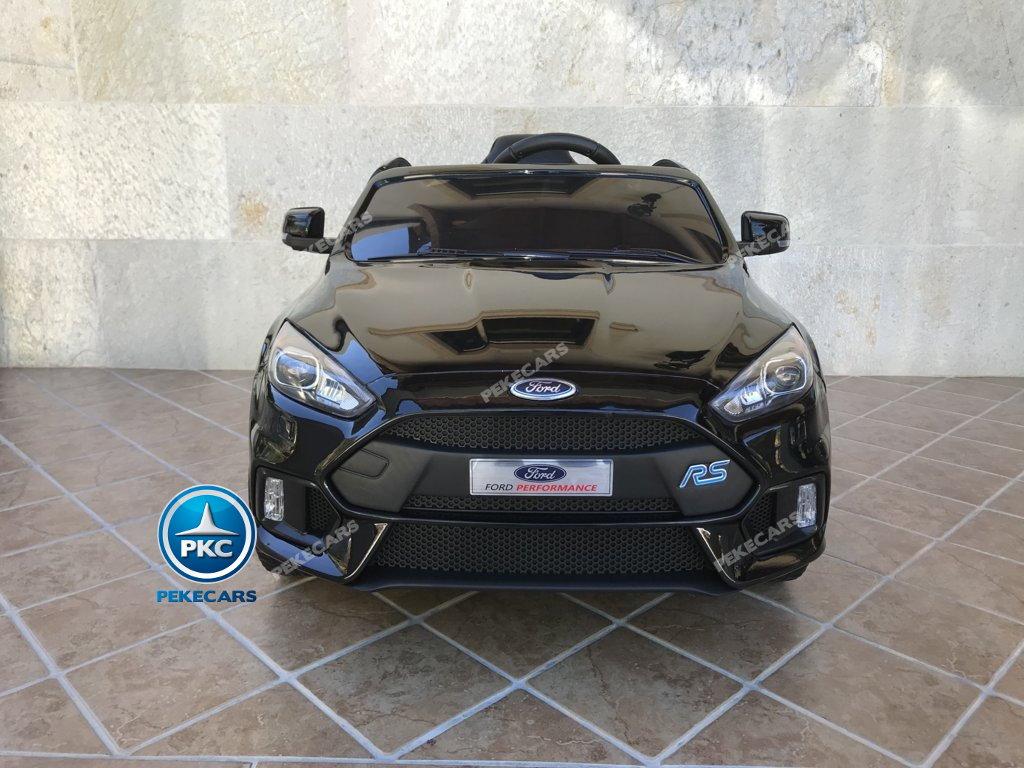 Coche electrico para niños Ford Focus RS Negro vista frontal