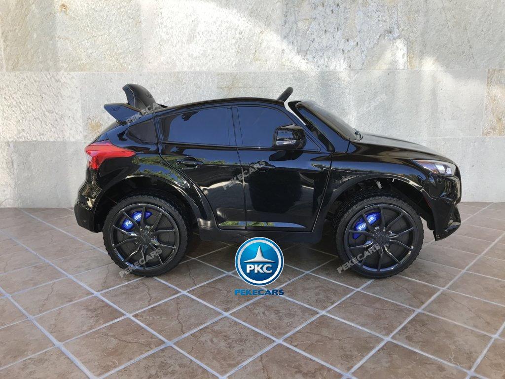 Coche electrico para niños Ford Focus RS Negro vista lateral
