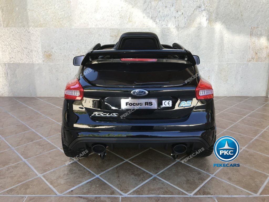 Coche electrico infantil Ford Focus RS Negro vista trasera