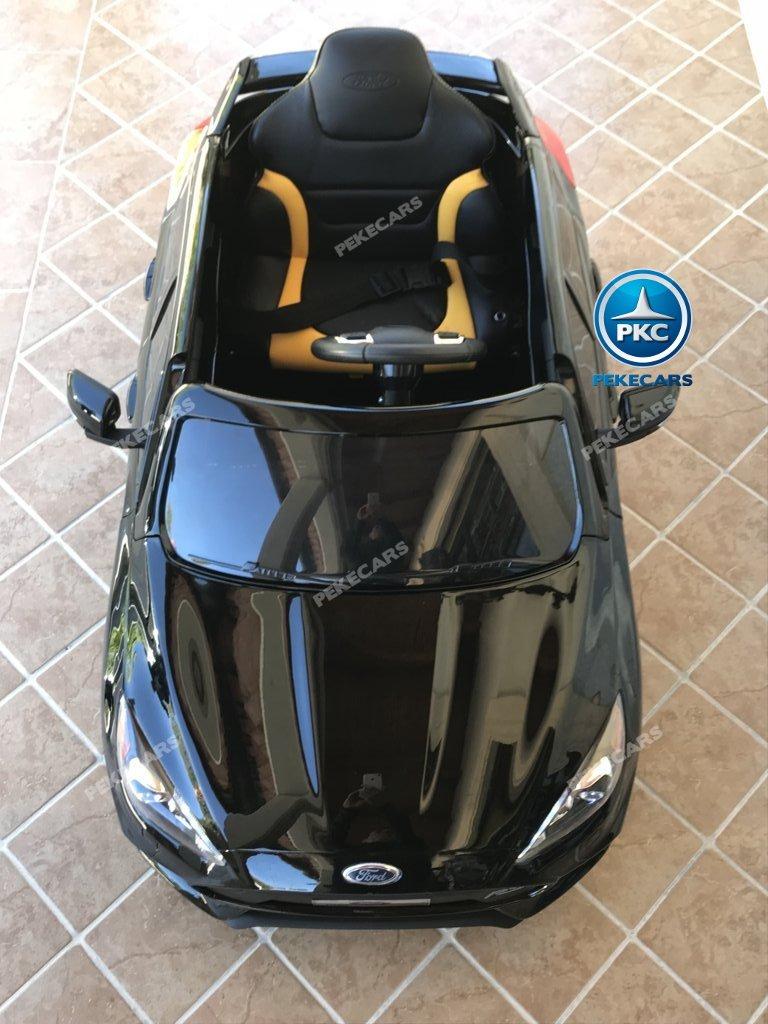 Coche electrico infantil Ford Focus RS Negro visto desde arriba