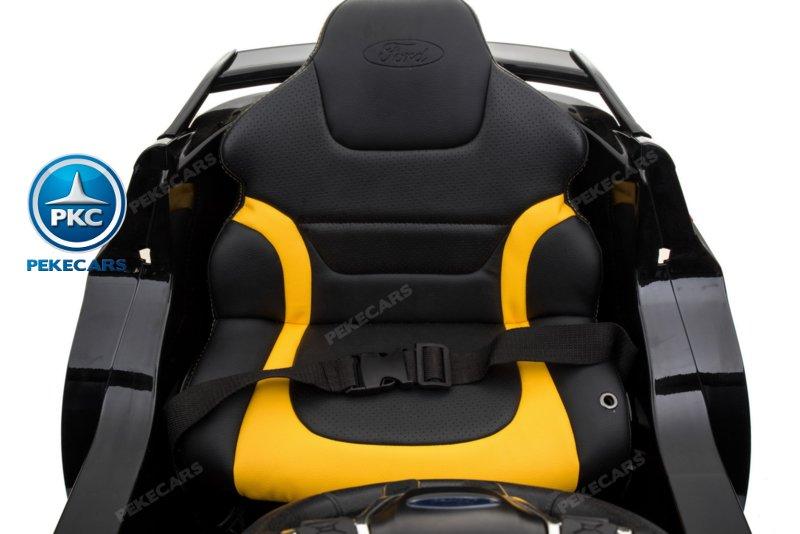 Coche electrico infantil Ford Focus RS Negro asiento acolchado
