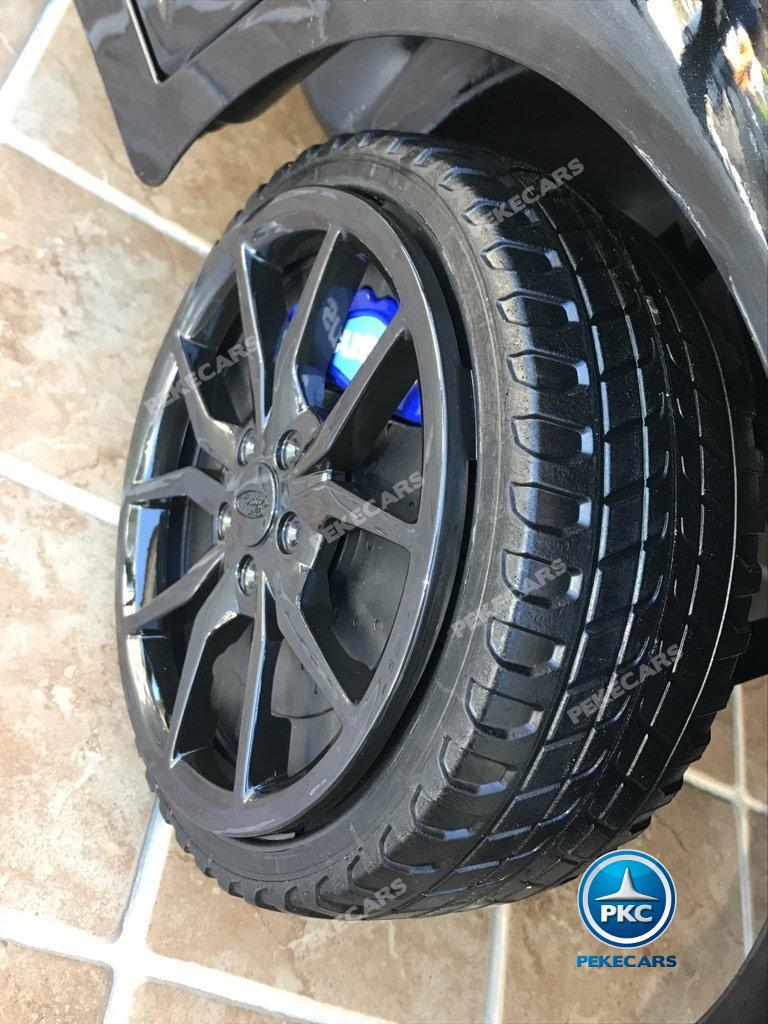 Coche electrico para niños Ford Focus RS Negro ruedas de caucho antipinchazos