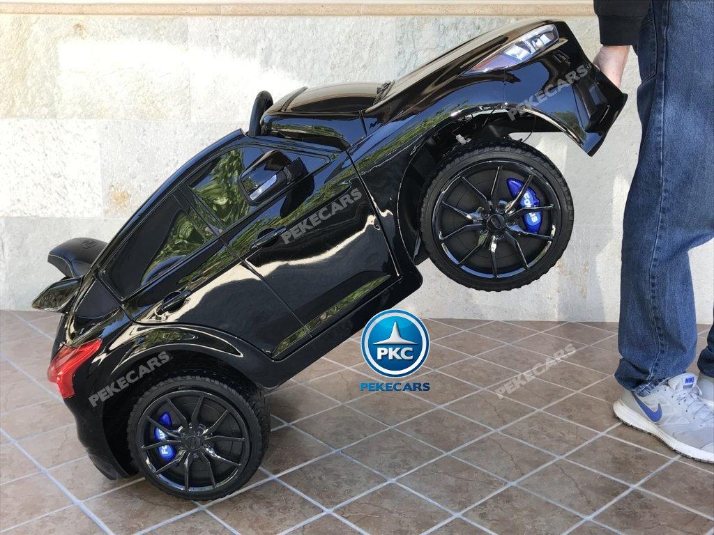 Coche electrico infantil Ford Focus RS Negro sistema de transporte