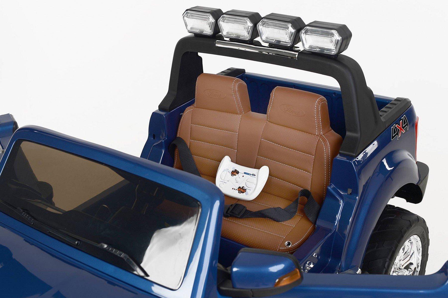 Todoterreno electrico para niños Ford Ranger MP4 Azul Metalizado asiento acolchado