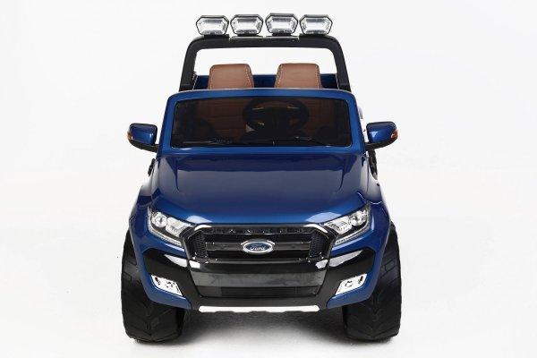 Todoterreno electrico para niños Ford Ranger MP4 Azul Metalizado vista frontal