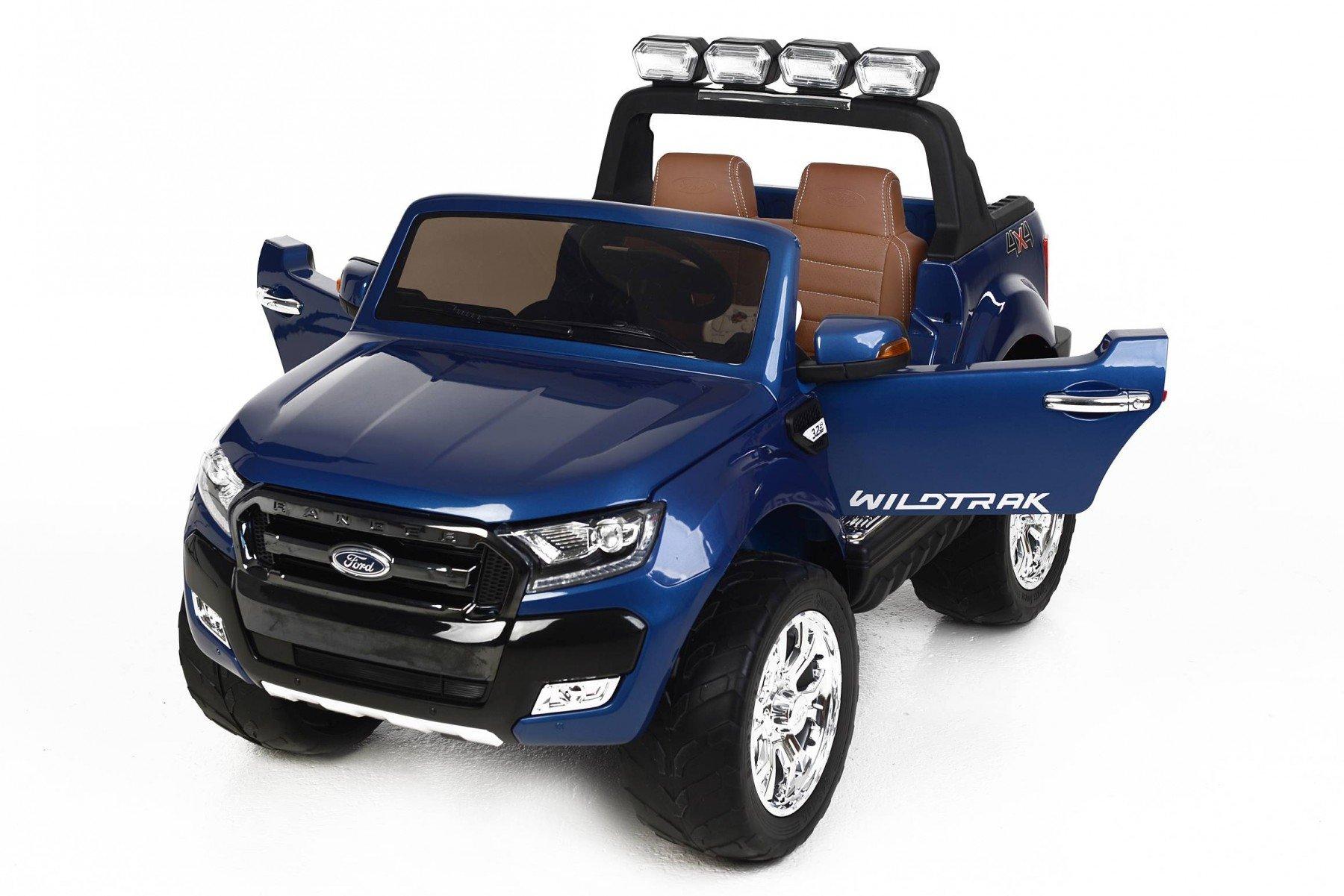 Todoterreno electrico infantil Ford Ranger MP4 Azul Metalizado con apertura de puertas