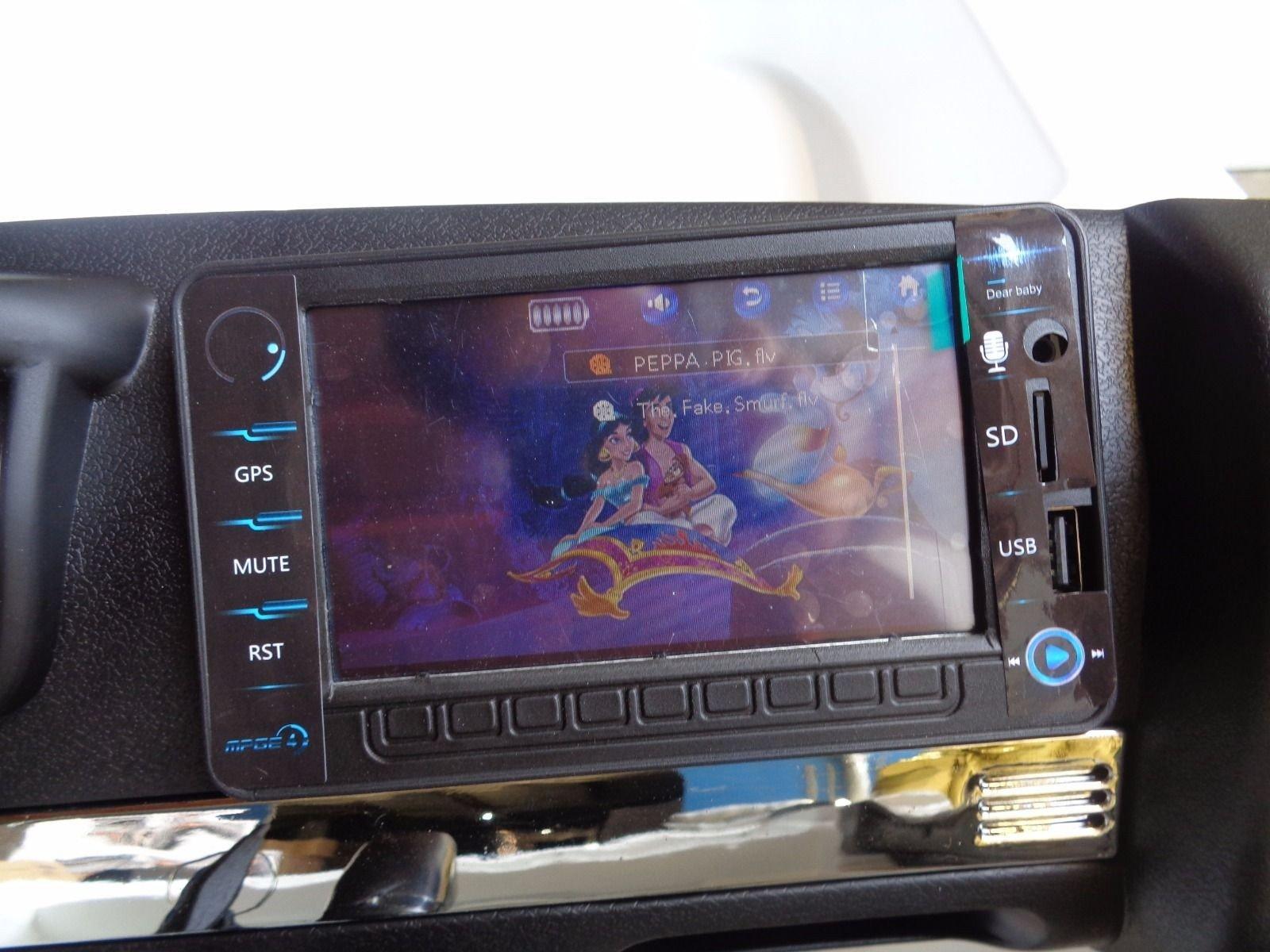 Todoterreno electrico infantil Ford Ranger MP4 Azul Metalizado pantalla