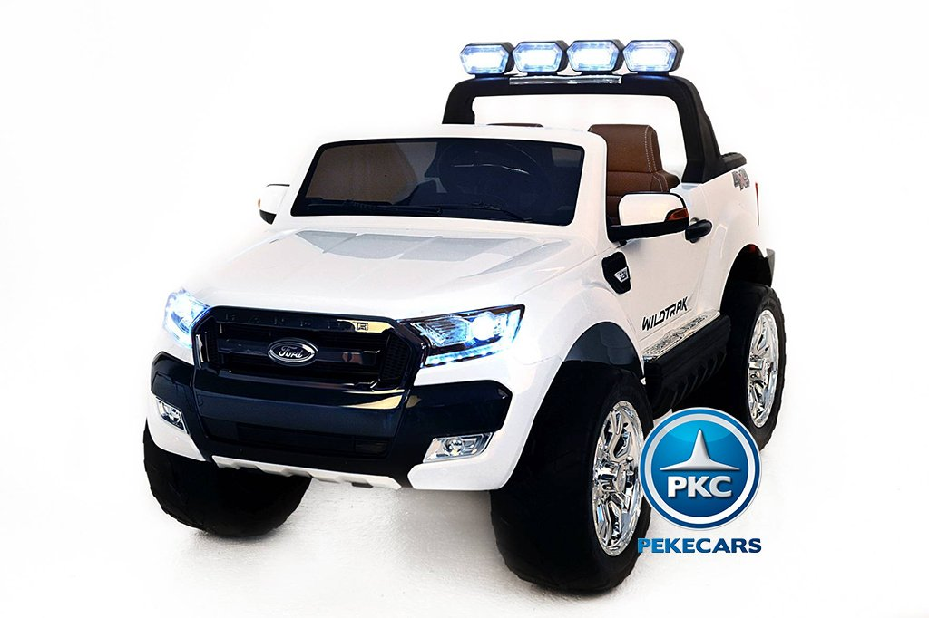 Todoterreno electrico para niños Ford Ranger MP4 Blanco vista frontal