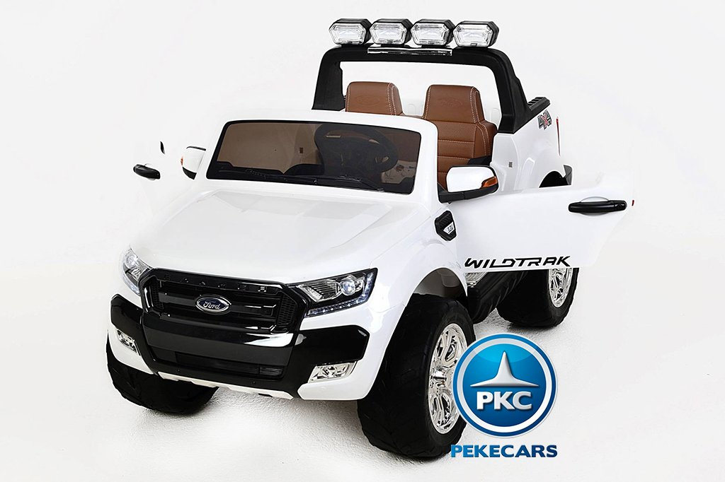 Todoterreno electrico para niños Ford Ranger MP4 Blanco
