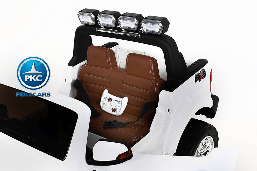 Todoterreno electrico infantil Ford Ranger MP4 Blanco pantalla