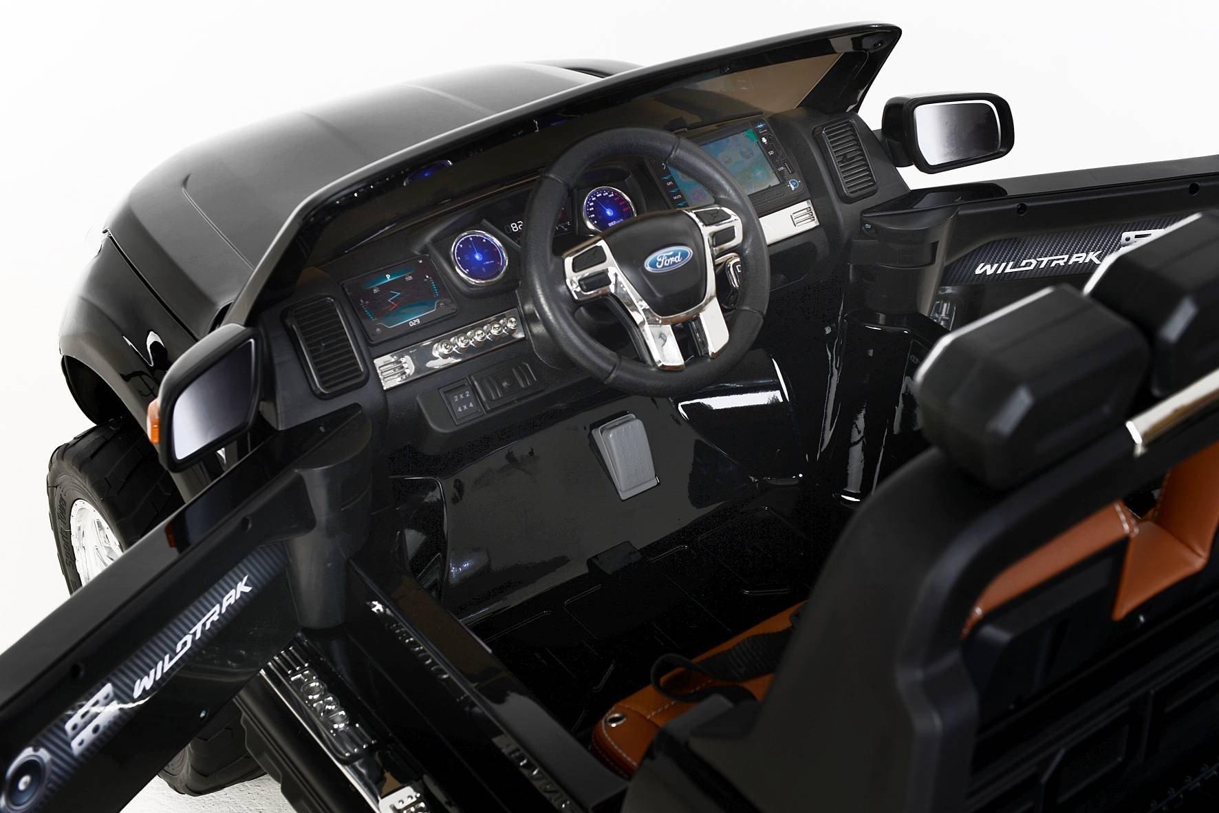 Todoterreno electrico infantil Ford Ranger MP4 Negro Metalizado maletero trasero