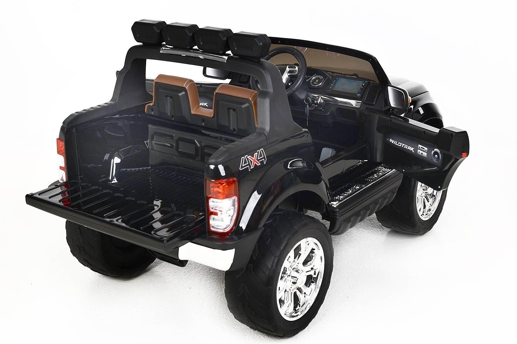 Todoterreno electrico para niños Ford Ranger MP4 Negro Metalizado vista trasera