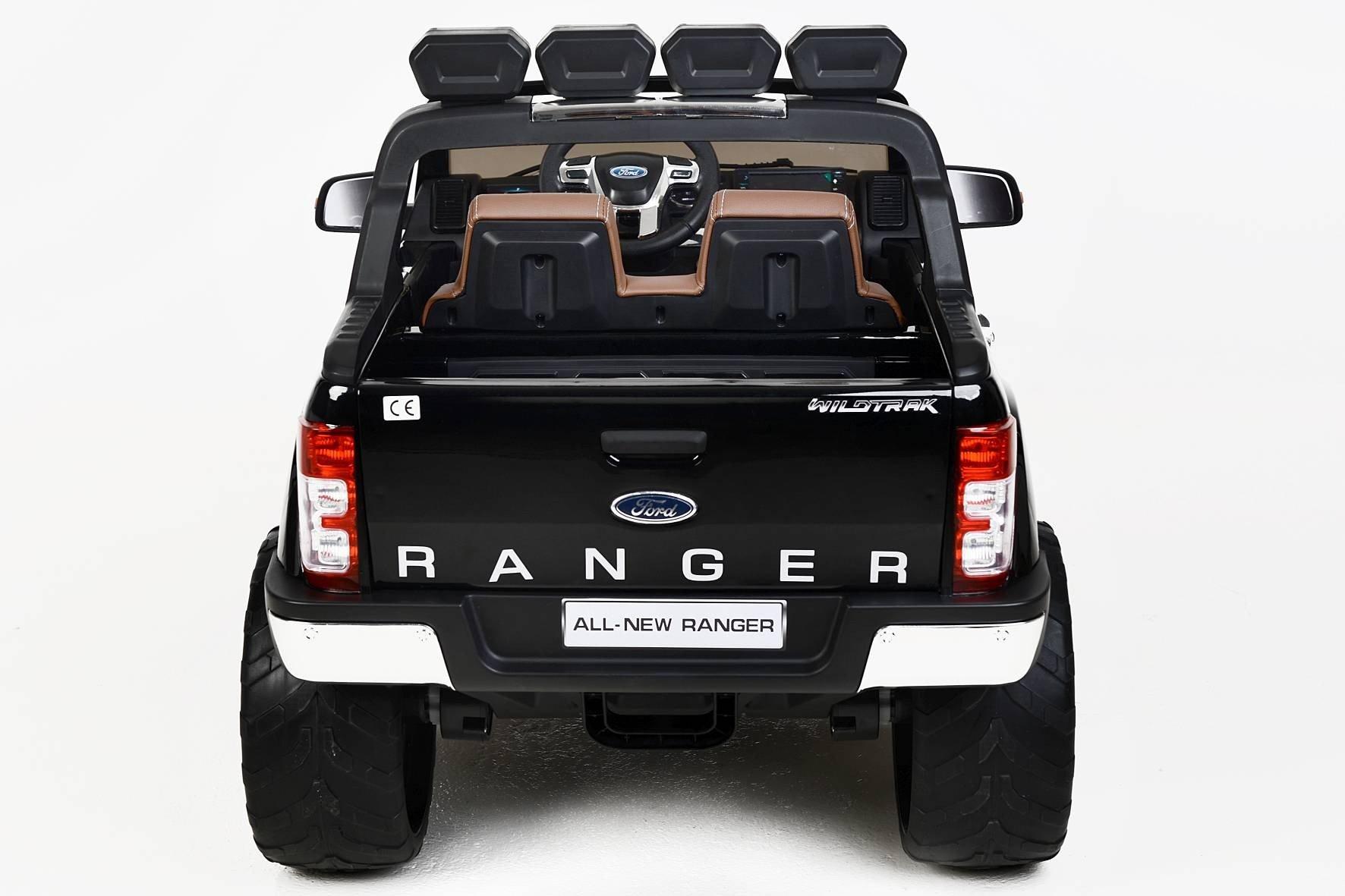 Todoterreno electrico para niños Ford Ranger MP4 Negro Metalizado mando radiocontrol