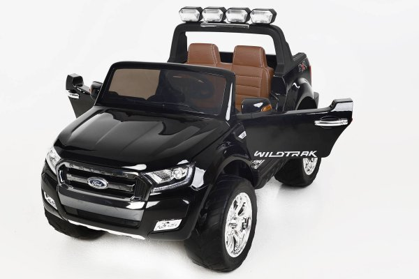 Todoterreno electrico para niños Ford Ranger MP4 Negro Metalizado vista frontal