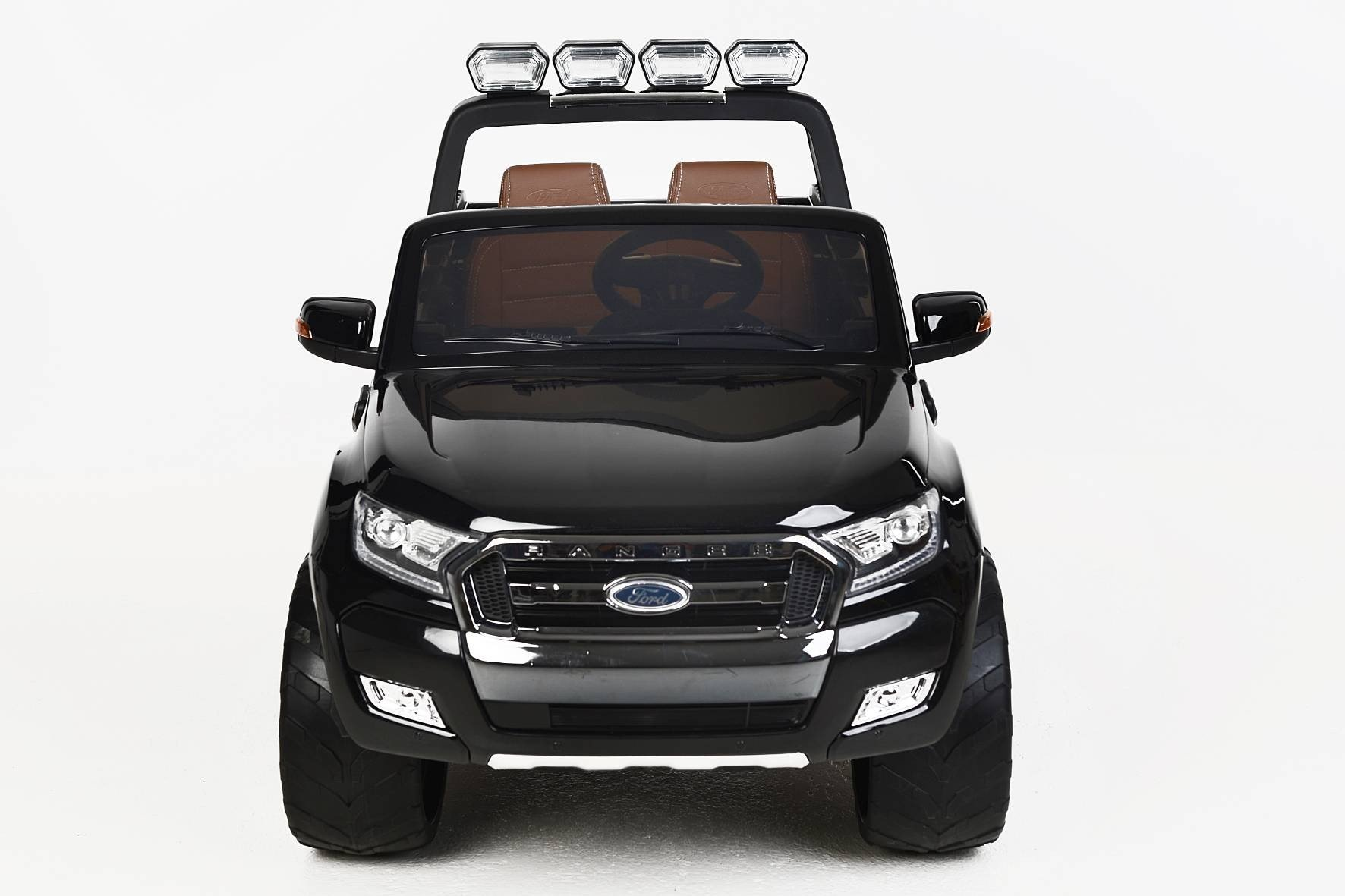 Todoterreno electrico infantil Ford Ranger MP4 Negro Metalizado con apertura de puertas