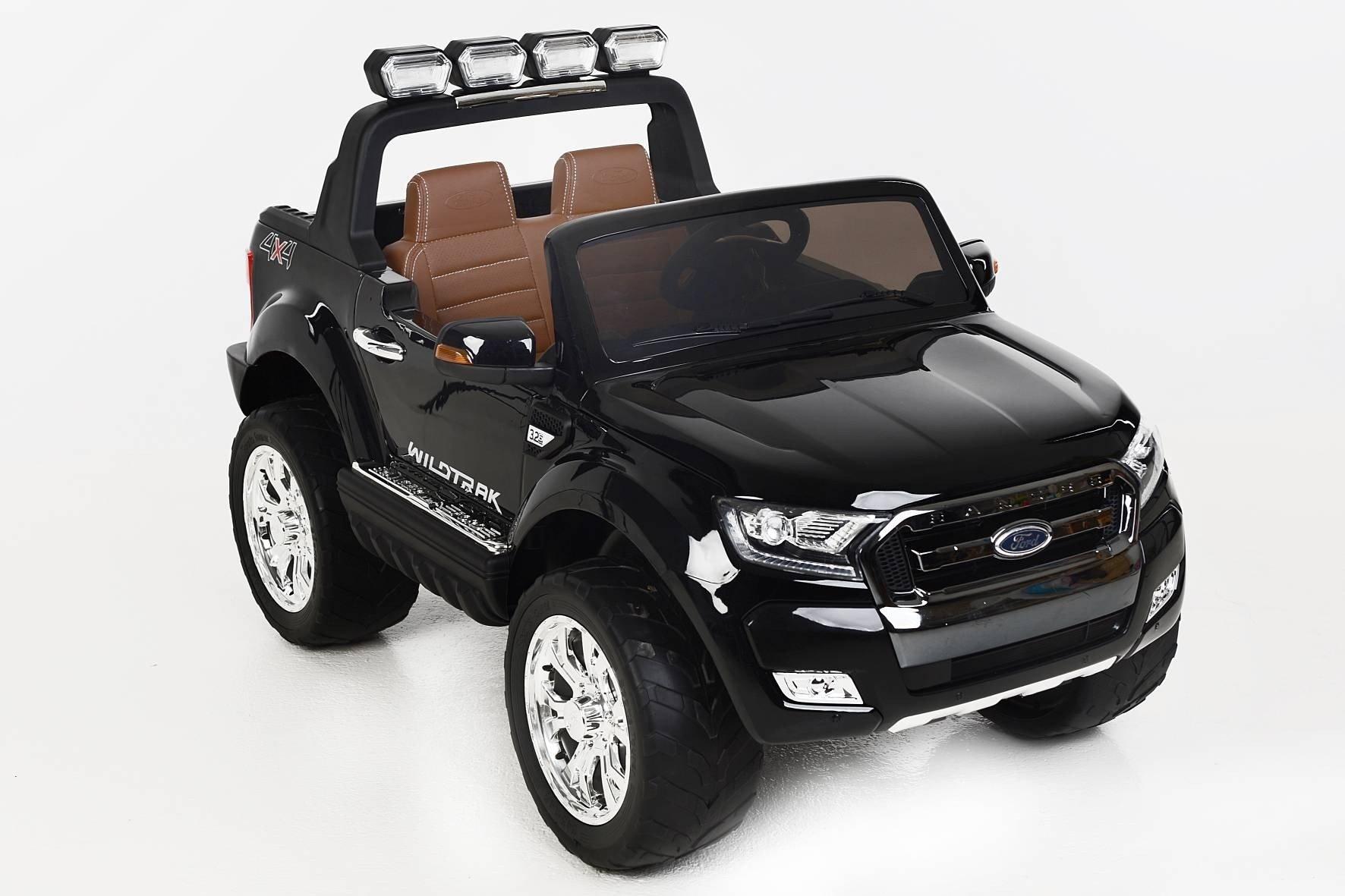 Todoterreno electrico para niños Ford Ranger MP4 Negro Metalizado