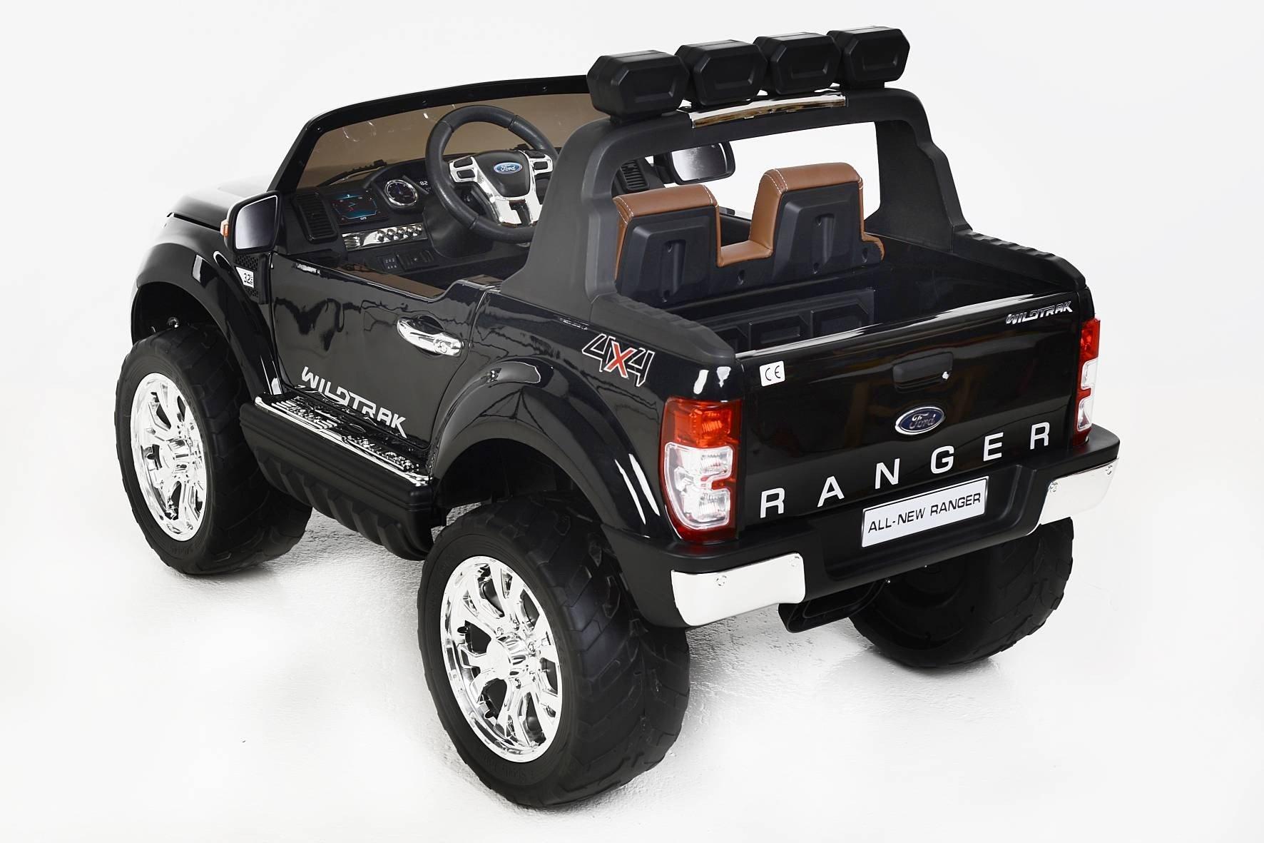 Todoterreno electrico infantil Ford Ranger MP4 Negro Metalizado salpicadero