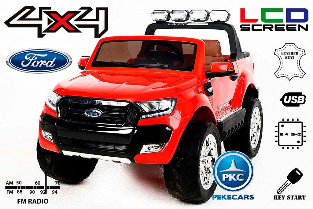 Todoterreno electrico infantil Ford Ranger MP4 Rojo vista principal