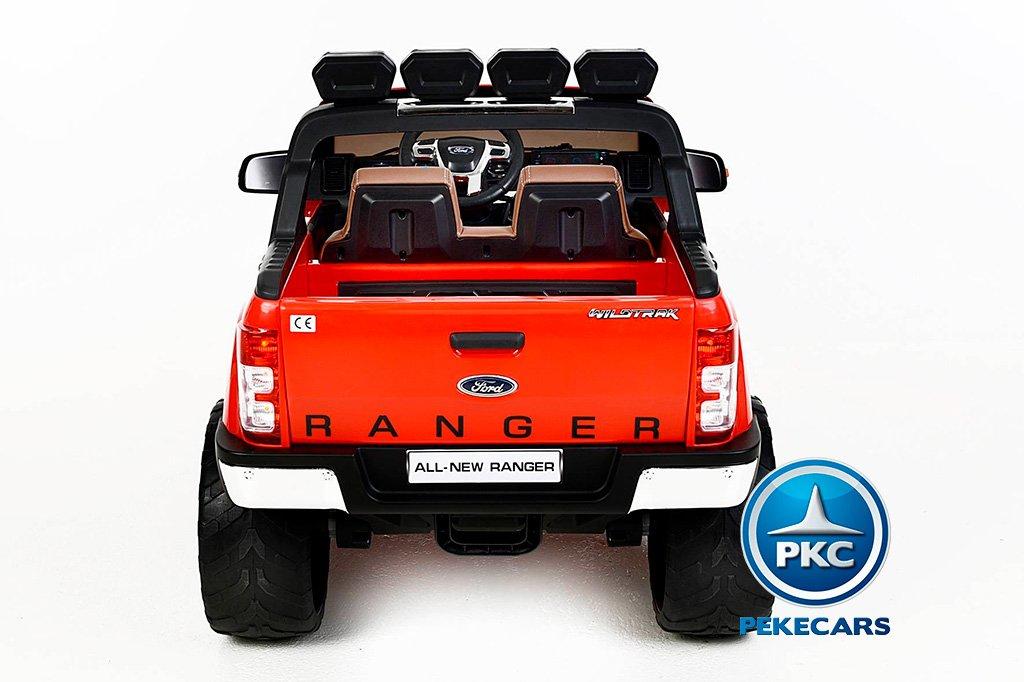 Todoterreno electrico infantil Ford Ranger MP4 Rojo conexion usb
