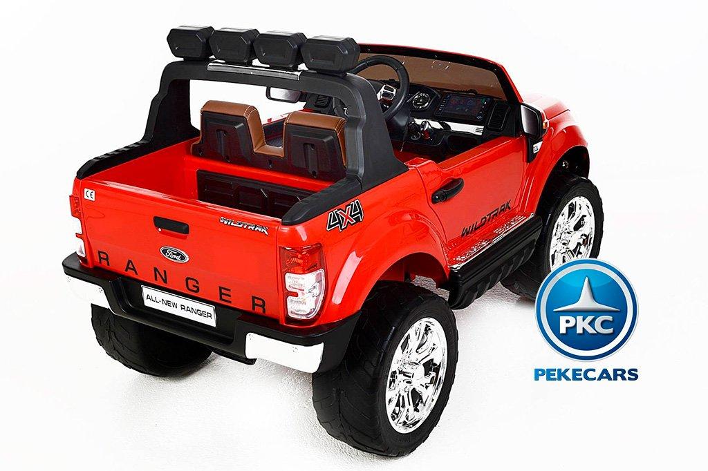 Todoterreno electrico para niños Ford Ranger MP4 Rojo luces led